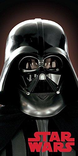 Jerry Fabrics 225490 Star Wars Darth Vader 02 Dusch und Strandtuch, Baumwolle, Black, 140 x 70 cm