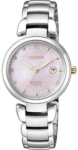 Citizen orologio solo tempo donna super titanium ew2506-81y