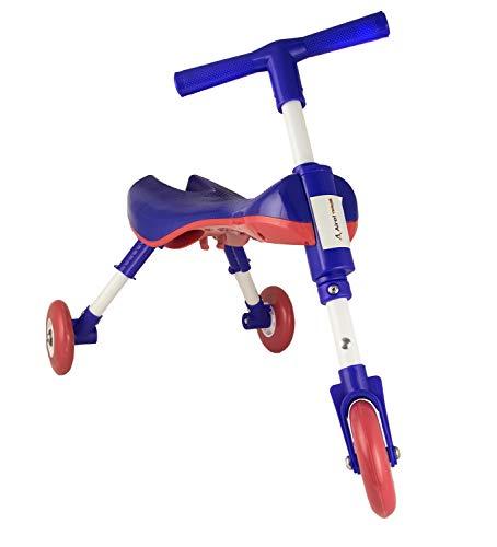Airel Lernlaufrad | Lernlaufrad Dreirad | Minilaufdreirad | Kinderlaufrad Klappbar | Mini Laufrad Flatbar | Dreirad | von 1 bis 3 Jahren (Marineblau)