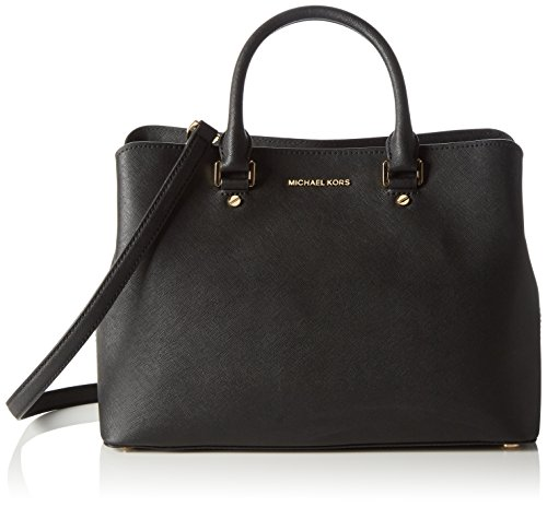 Michael Kors Damen Savannah Tornistertasche, Schwarz (Black), 15.2x25.4x35.6 centimeters