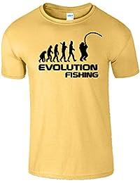 Fishing Evolution Drôle Anniversaire Cadeau Hommes T-Shirt