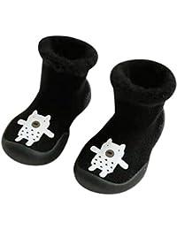 Mitlfuny Invierno Unisex Barco Calcetines de Piso Zapatos para Bebé Dibujos Animados Tubo Medio Tejer Zapatillas