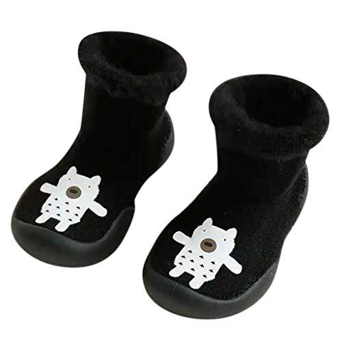 Chaussures Premiers Pas BéBé Fille Garçon Chaussettes de Noël Doux Souple Princesse, Binggong Chaussure Fille Père Noël Doux Sole Prewalker Chaussures de Maison antidérapantes pour BéBé 0-10mois