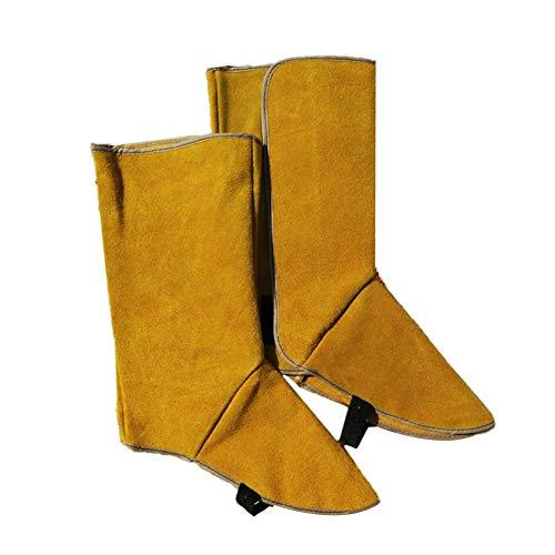 MRlegendary Leder Schweißspatel, Schweißerschutzschuhe Sicherheitsstiefel Fußschutz für Schweißer, Flammen- / Hitze- / Abriebbeständiger Fußschutz -