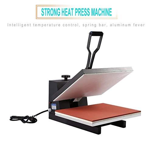 ALTERDJ 40x50cm Hitze Presse Maschine Heißpresse Upgraded Multifunktions Hitzepresse mit Elektronische Zeitregelung und Temperaturüberwachung für Platten Becher Schalen Hut T-Shirt - Becher-hitze-presse