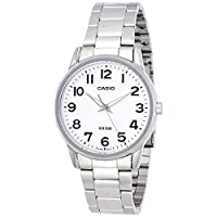 Casio Men's White Dial Stainless Steel Band Watch - MTP-1303D-7BVDF 40 mm