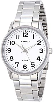Casio Men's White Dial Stainless Steel Band Watch - MTP-1303D-7BVDF 4