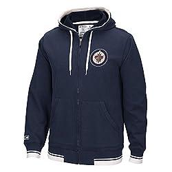 NHL Winnipeg Jets Mens CCM Fashion Fleece Sweatshirt, Medium, Navy