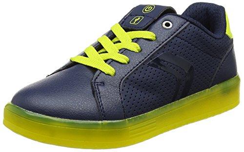 Geox J Kommodor B, Zapatillas para Niños, Azul (Navy/Lime), 34 EU