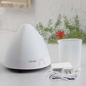 EiioX Arôme Diffuseur d'huiles essentielles /Raffraichir l'air/ Fonction de minuterie/ Humidificateur à ultrason/ LED couleur changeable (Blanc)