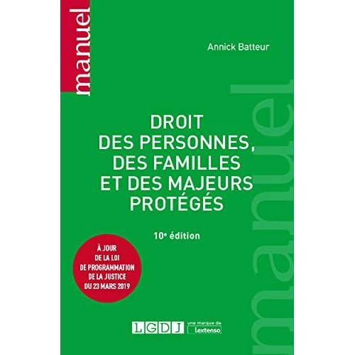 Droit des personnes, des familles et des majeurs protégés