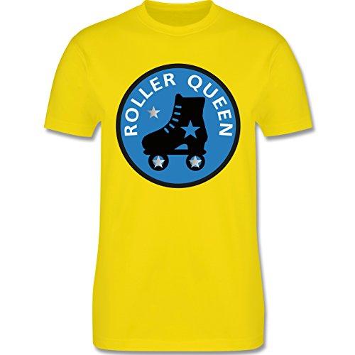 Vintage - Roller Queen Rollschuh - Herren Premium T-Shirt Lemon Gelb