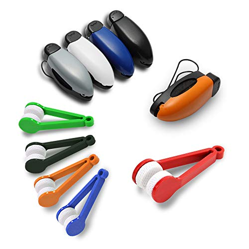 JUMINE Sonnenbrillenhalter für Autos, Autos, Sonnenbrillen, Brillenhalter + 5 Mini-Sonnenbrillen, Brillenreiniger