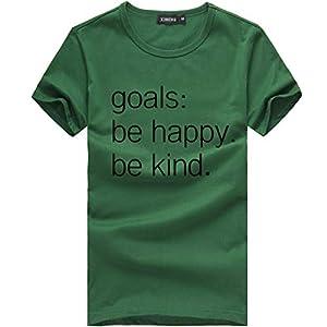 Tosonse T-Shirt Für Damen Herbst Shirts O-Ausschnitt Kurzarm Tops Tunika Casual Blusen Tee Druck Flowy