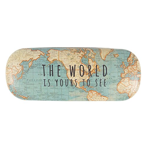 Preisvergleich Produktbild Vintage Map The World Is Yours Hard Glasses Case