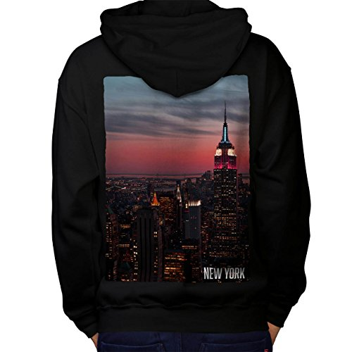 Empire State Building Men M Kapuzenpullover Zurück | Wellcoda