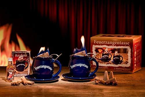 Feuerzangentasse 2er-Set blau - premium