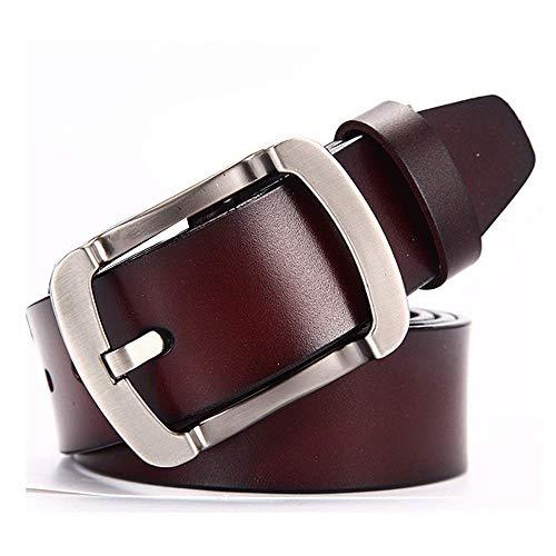 aoliaoyudonggha Men Genuine Leather Strap Belts Buckle Fancy Vintage Jeans Cintos Masculinos Ceinture Homme - Fancy Concho