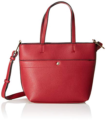 TOM TAILOR Shopper Damen, Hanna, (Rot), 27x20x11 cm, TOM TAILOR Schultertasche, Handtaschen Damen