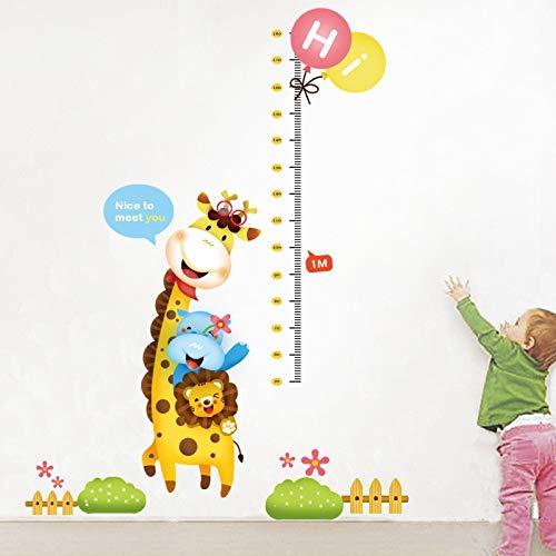 Die Giraffe Little Lion Kinder Höhe Die Kindergarten Lehrer Hintergrund Ideen können die Wandaufkleber entfernen