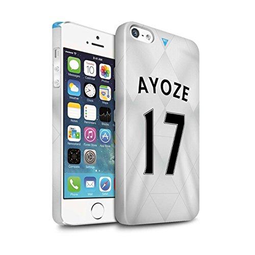 Offiziell Newcastle United FC Hülle / Glanz Snap-On Case für Apple iPhone 5/5S / Pack 29pcs Muster / NUFC Trikot Away 15/16 Kollektion Ayoze