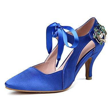 Donn's sandali Estate Autunno Club scarpe Ufficio satinata & carriera parte & abito da sera Stiletto Heel strass US8 / EU39 / UK6 / CN39