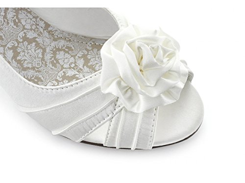 Occasion chaussures ENYA chaussures de femme en Satin pour mariage Ivoire Beige - ivoire