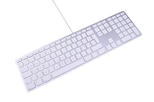LMP KB-1243 kabelgebundene USB Tastatur mit Zahlenblock und USB-Hub deutsch für Apple
