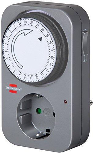 Brennenstuhl Mechanische Zeitschaltuhr MZ 20, 1506450 (4er Pack, Schwarz)