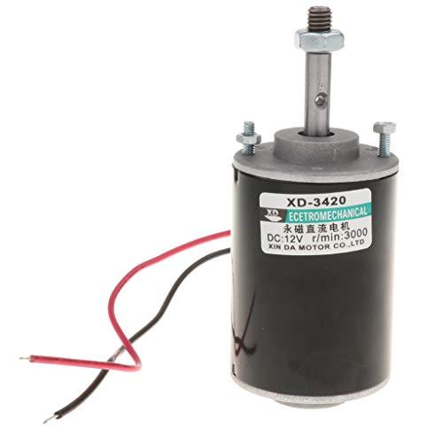 H HILABEE Gleichstrommotor, 12V 30W 3000RPM CW / CCW Umkehrbarer Permanentmagnet Elektromotor Für Rasenmäher, Kleine Generatoren, Stöße, Gebläse -