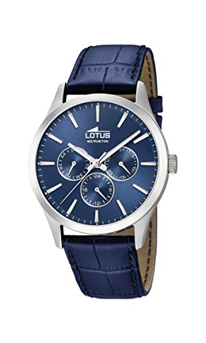 Lotus Watches Mens Multi dial Quartz Watch with Leather Strap 18576/4