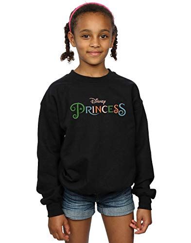 Disney Princess Mädchen Colour Logo Sweatshirt Schwarz 5-6 Years