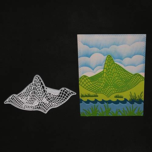jieGREAT Räumungsverkauf❤❃,Neue Blumen-Herz-Metall-Cutting stirbt Stencils DIY Scrapbooking Album Paper Card