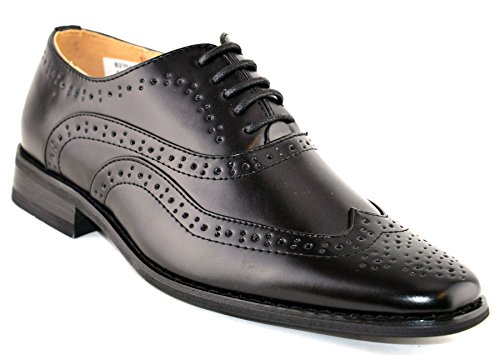 51850bf20 Boys Leather Lined Lace Up Wedding Smart Brogues Black Formal Shoes Size ...