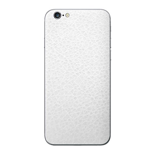 Cruzerlite Leather Skin for the Apple iPhone 6 Plus - Retail Packaging - White (Back Only) White