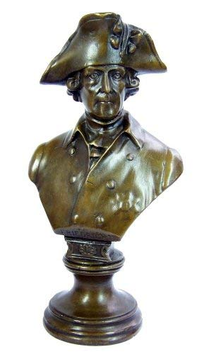 Kunst & Ambiente - Friedrich II. / der Große Büste/Fritz mit Kleinhut - Bronzebüste - signiert - Militaria - Der alte Fritz Figur - Skulptur - Statue - Deko