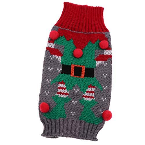 SM SunniMix Winter Herbst Hundebekleidung Weihnachten Hunde Kostüm Kleidung Hund Gestrickte Pullover Mantel - Clown Muster, S -