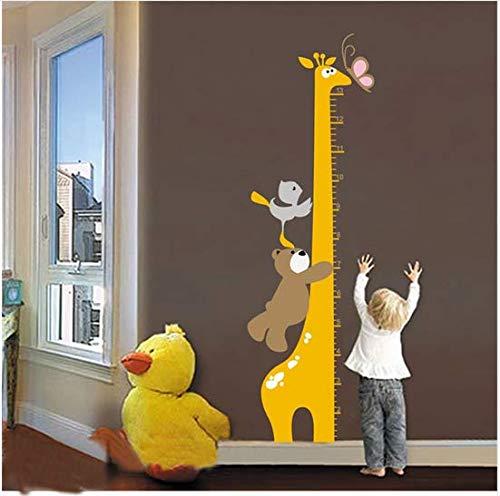 nfache Giraffe Bär Vogel Spiel Kind Höhe Wandaufkleber Kinder Schlafzimmer Kindergarten Wachsen Vinyl Removable Wandbild ()