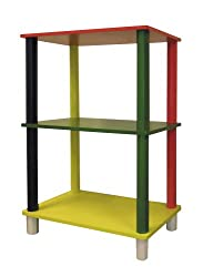 ORE International Kids Primary-Color 3-Tier Rectangle Shelves