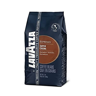 Lavazza Super Crema Coffee Beans 1kg + 50 Lotus Biscuits Value Pack by Lavazza