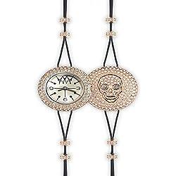Uhr Marco mavilla Pepito Reversible Skull Gold und Glitzer psk03rg