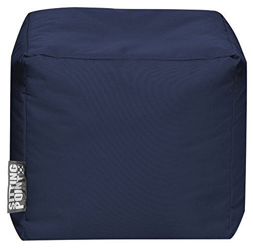 SITTING POINT only by MAGMA Sitzsack Scuba Cube 40x40x40cm Jeansblau (Outdoor)