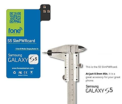S5 SlimPWRcard - Charge Qi Wireless Receiver Carte bobine pour Samsung Galaxy S5 SV