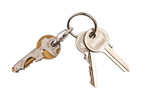 418D5BwO9TL - KeyTool 8-in-1 Keyring Multi-tool, True Utility
