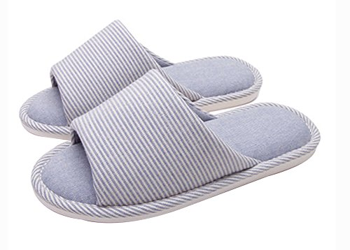 (Made By Cotton) Skidproof Le Style Simple De Pantoufles(Bleu)