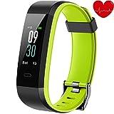 alwaiiz Fitness Armband,Fitness Tracker mit Aktivitätstracker,Pulsuhren,Schlafmonitor,Schrittzähler Wasserdicht Fitness Uhr Zweifarbiger Armbanduhr für Damen Herren (Grün)