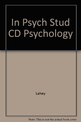 In-Psych Student CD-ROM to Accompany Lahey Psychology
