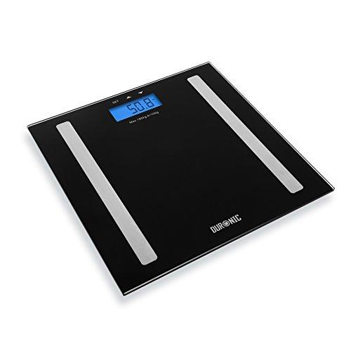 Duronic BS501 digitale Personenwaage / Körperanalysewaage / Gewichtswaage / Badezimmerwaage, bis zu 180 kg und Touch-Display (Medizinische Zahlen Diagramm)