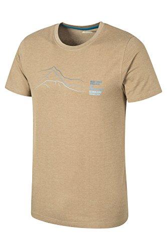 Mountain Warehouse Peaks Herren-T-Shirt Beige