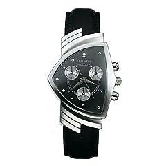 Idea Regalo - Hamilton Orologio Cronografo Quarzo Uomo con Cinturino in Pelle H24412732